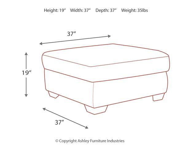 Accrington Oversized Ottoman 7050908 Stationary Sectionals By ashley - sofafair.com