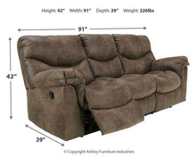 Load image into Gallery viewer, Alzena Reclining Sofa 7140088