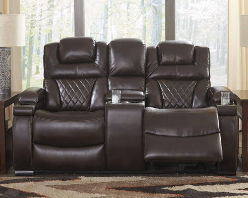 Warnerton Power Reclining Loveseat with Console 7540718 By Ashley Furniture from sofafair