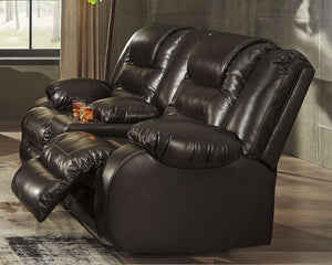 Vacherie Reclining Loveseat with Console 7930794 By Ashley Furniture from sofafair