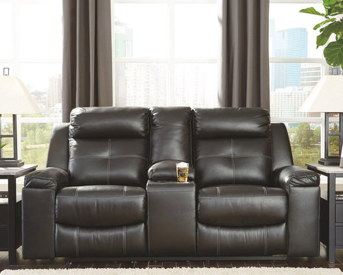 Kempten Reclining Loveseat with Console 8210594 By Ashley Furniture from sofafair