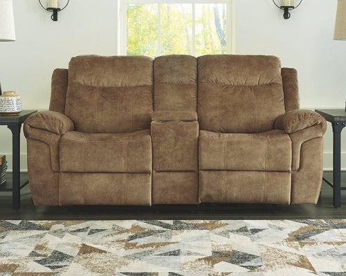 HuddleUp Glider Reclining Loveseat with Console 8230494 By Ashley Furniture from sofafair