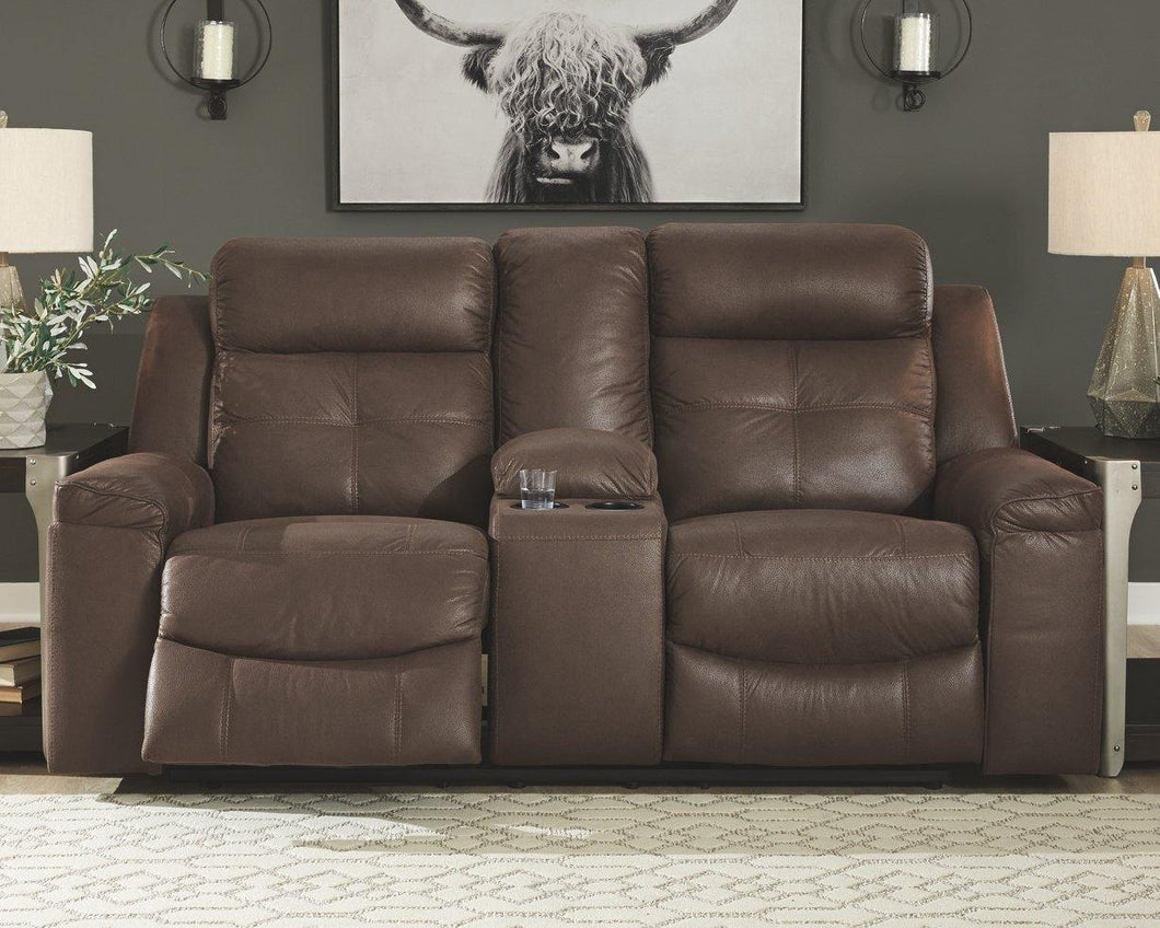 Jesolo Reclining Loveseat with Console 8670494 By Ashley Furniture from sofafair