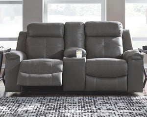 Jesolo Reclining Loveseat with Console 8670594 By Ashley Furniture from sofafair