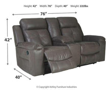 Load image into Gallery viewer, Jesolo Reclining Loveseat with Console 8670594