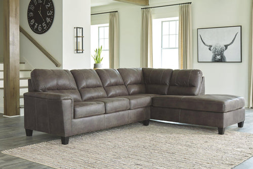 Navi 2Piece Sectional with Chaise 94002S2 By Ashley Furniture from sofafair