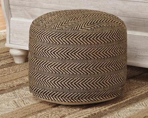 Chevron Pouf A1000438 By Ashley Furniture from sofafair