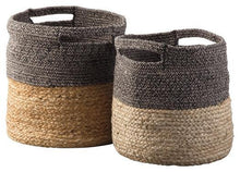Load image into Gallery viewer, Parrish Natural/Black Basket Set of 2 A2000095