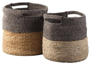 Parrish Natural/Black Basket Set of 2 A2000095