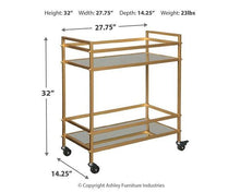 Load image into Gallery viewer, Kailman Bar Cart A4000095