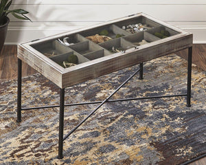 Shellmond Coffee Table with Display Case A4000208 By Ashley Furniture from sofafair