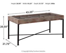 Load image into Gallery viewer, Shellmond Coffee Table with Display Case A4000208