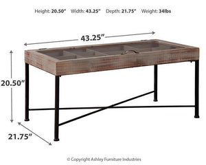 Shellmond Coffee Table with Display Case A4000208