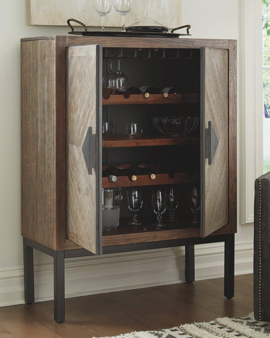 Premridge Bar Cabinet A4000252 Storage and Organization By Ashley Furniture from sofafair