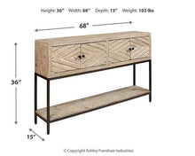 Load image into Gallery viewer, Roanley Sofa/Console Table A4000262