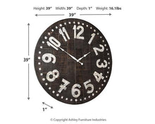 Load image into Gallery viewer, Brone Wall Clock A8010167