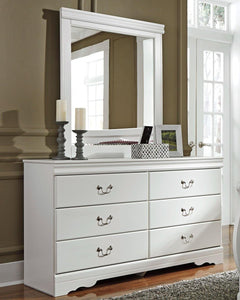 Anarasia Dresser and Mirror B129B3 Girls Bedroom Furniture By Ashley Furniture from sofafair