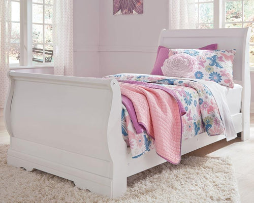 Anarasia Twin Sleigh Bed B129B1 Girls Bedroom Furniture By Ashley Furniture from sofafair
