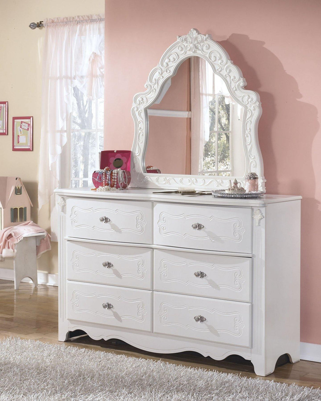 Exquisite Dresser and Mirror B188B52 Girls Bedroom Furniture By Ashley Furniture from sofafair