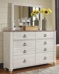 Willowton Dresser and Mirror B267B1 By Ashley Furniture from sofafair