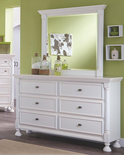 Kaslyn Dresser and Mirror B502B1 Girls Bedroom Furniture By Ashley Furniture from sofafair