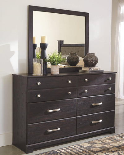 Reylow Dresser and Mirror B555B1 By Ashley Furniture from sofafair