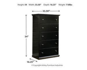 Maribel Chest of Drawers B138-46 Girls Bedroom Furniture