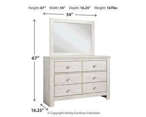 Paxberry Dresser and Mirror B181B3