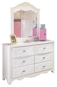Exquisite Dresser and Mirror B188B4 Girls Bedroom Furniture