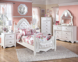 Exquisite Dresser and Mirror B188B52 Girls Bedroom Furniture