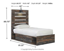 Load image into Gallery viewer, Drystan Twin Panel Bed with 2 Storage Drawers B211B8