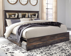 Drystan King Bookcase Bed with 2 Storage Drawers B211B51 By Ashley Furniture from sofafair