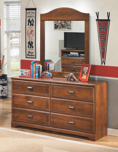 Barchan Dresser and Mirror B228B1 Boys Bedroom Furniture By Ashley Furniture from sofafair