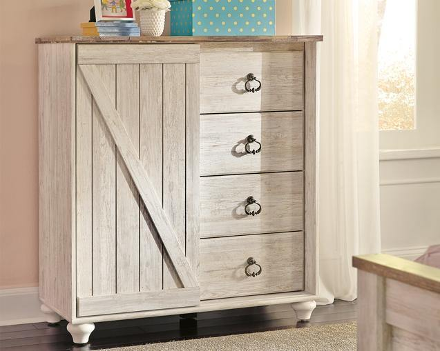 Willowton Dressing Chest B267-48 Girls Bedroom Furniture By Ashley Furniture from sofafair