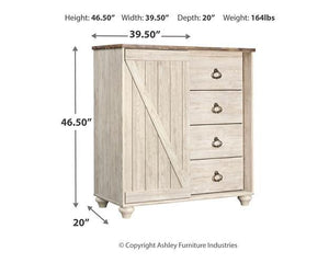 Willowton Dressing Chest B267-48 Girls Bedroom Furniture