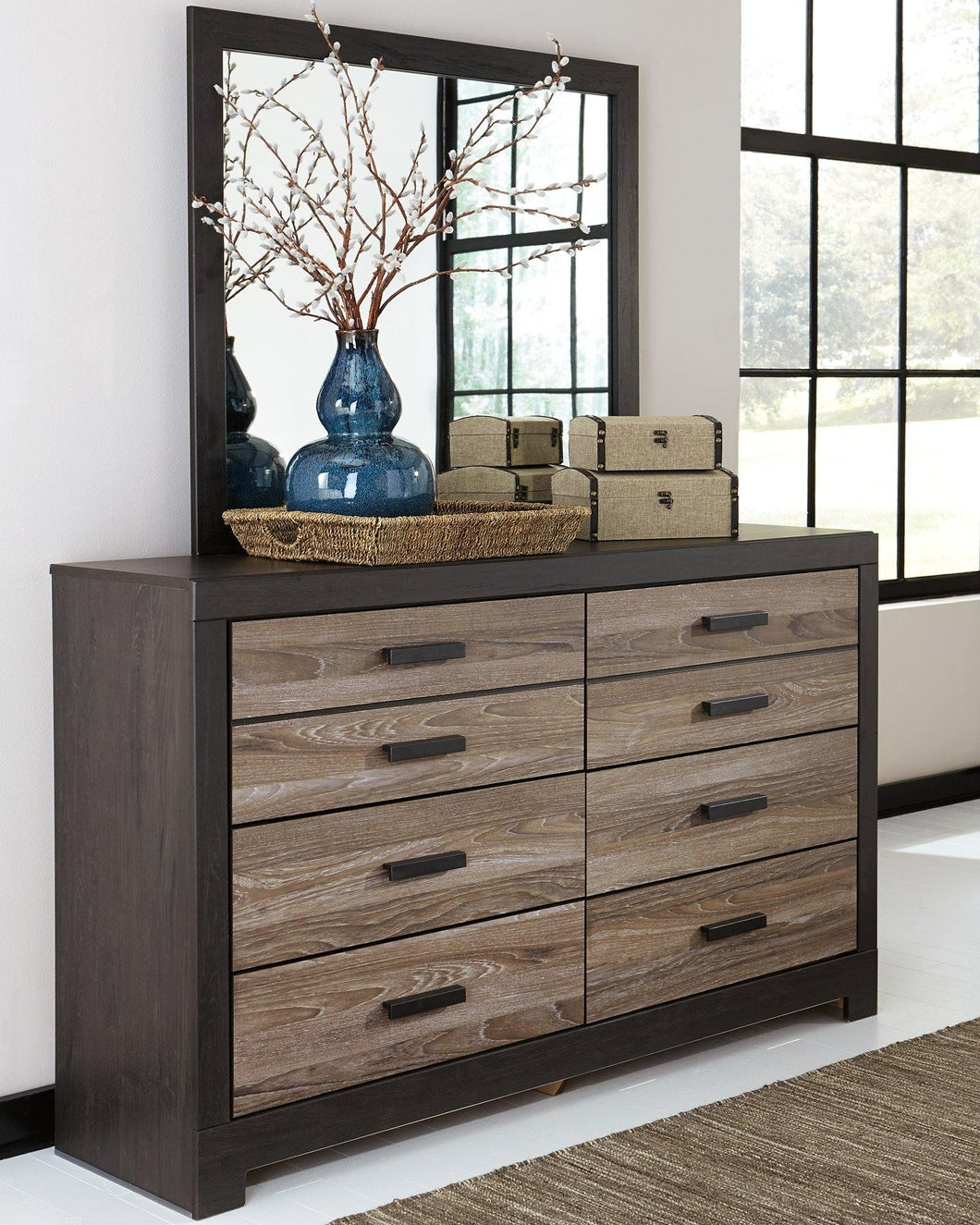 Harlinton Dresser and Mirror B325B1 By Ashley Furniture from sofafair