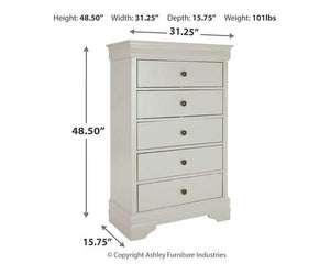 Jorstad Chest of Drawers B378-46 Girls Bedroom Furniture