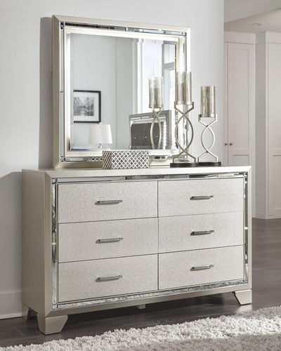 Lonnix Dresser and Mirror B410B1 Girls Bedroom Furniture By Ashley Furniture from sofafair