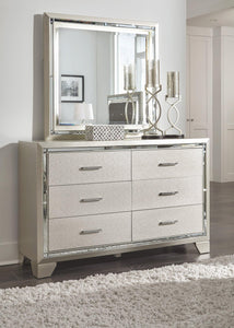 Lonnix Dresser and Mirror B410B1 Girls Bedroom Furniture