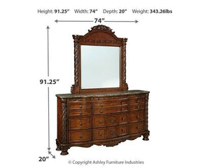 North Shore Dresser and Mirror B553B35