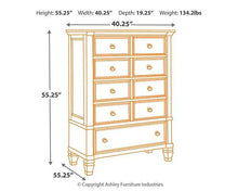 Load image into Gallery viewer, Prentice Chest of Drawers B672-46
