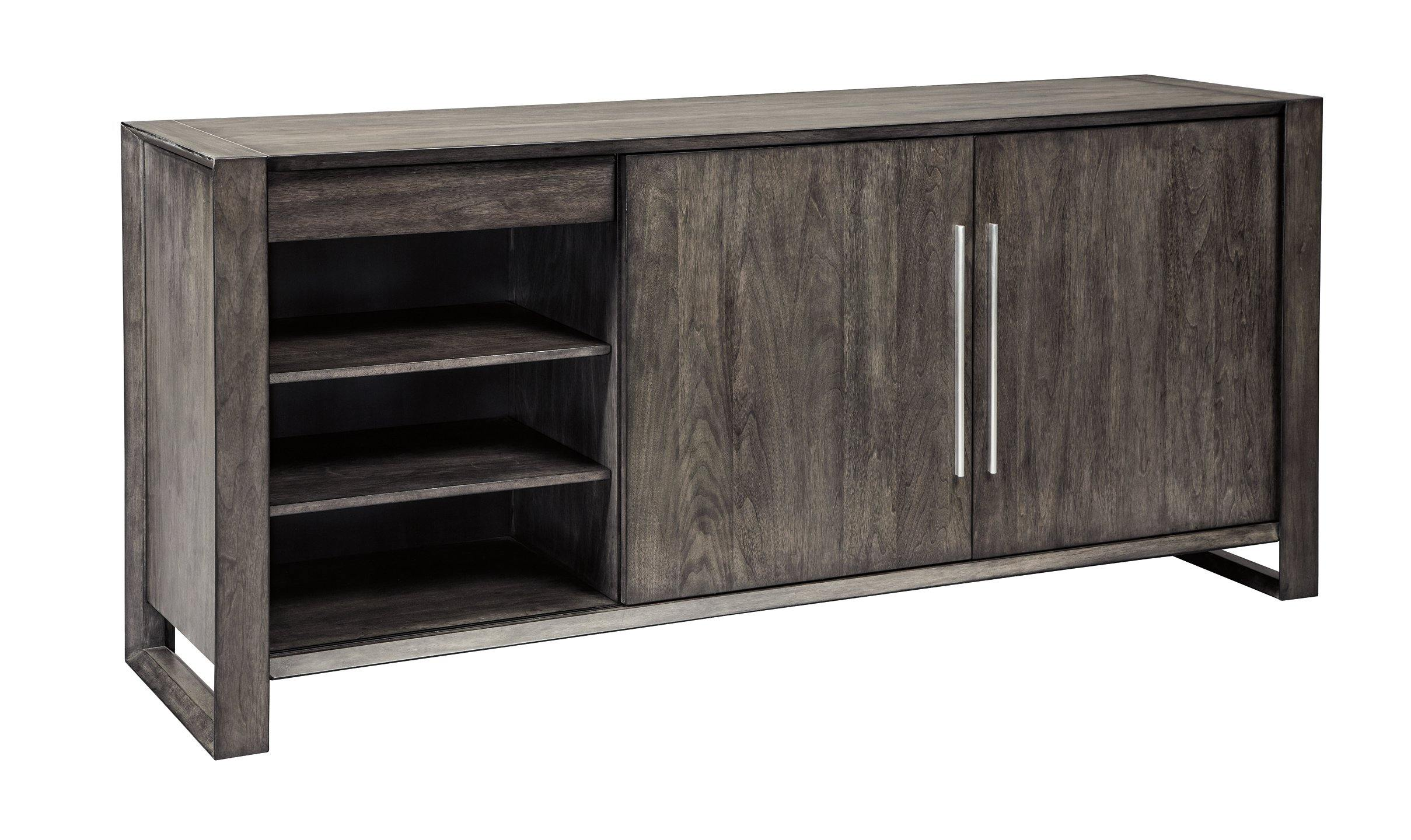 Gray Contemporary Chadoni Dining Server D624-60 By ashley - sofafair.com