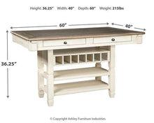 Load image into Gallery viewer, Bolanburg Counter Height Dining Room Table D647-32