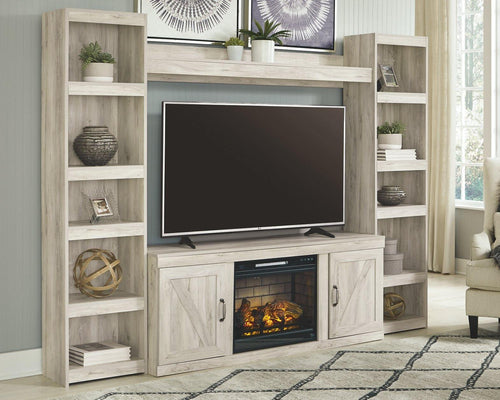 Bellaby 4Piece Entertainment Center with Electric Fireplace EW0331W3 By Ashley Furniture from sofafair