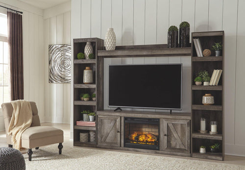 Wynnlow 4Piece Entertainment Center with Electric Fireplace EW0440W3 By Ashley Furniture from sofafair