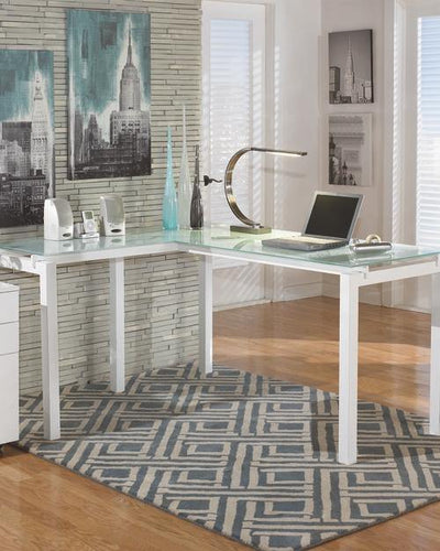Baraga 61 Home Office Desk H410-24 By Ashley Furniture from sofafair