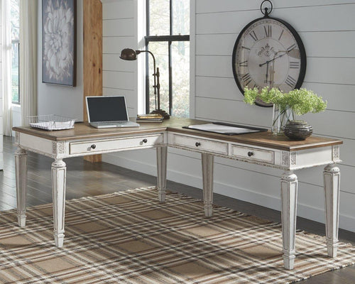Realyn 2Piece Home Office Desk H743H1 By Ashley Furniture from sofafair