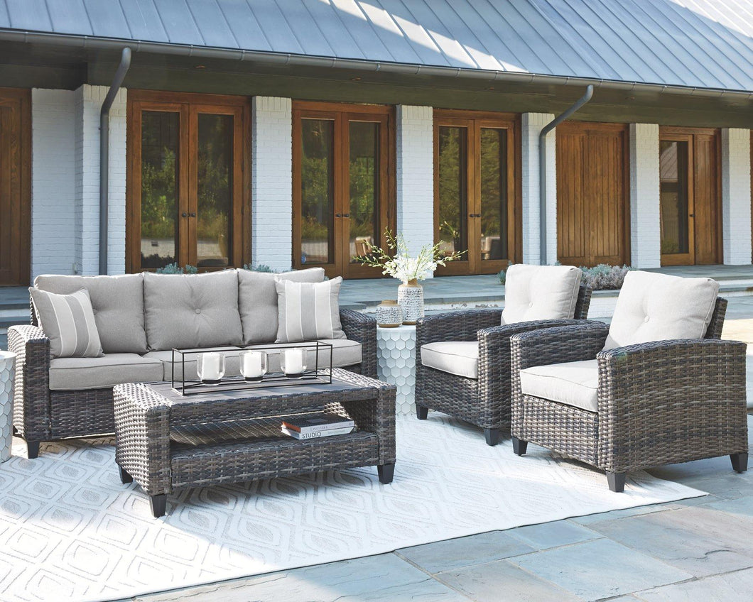 Cloverbrooke 4Piece Outdoor Conversation Set P334-081 Seating By Ashley Furniture from sofafair