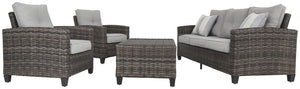 Cloverbrooke 4Piece Outdoor Conversation Set P334-081 Seating