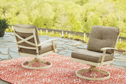 Preston Bay Swivel Lounge with Cushion Set of 2 P460-821 Outdoor Chat Sets